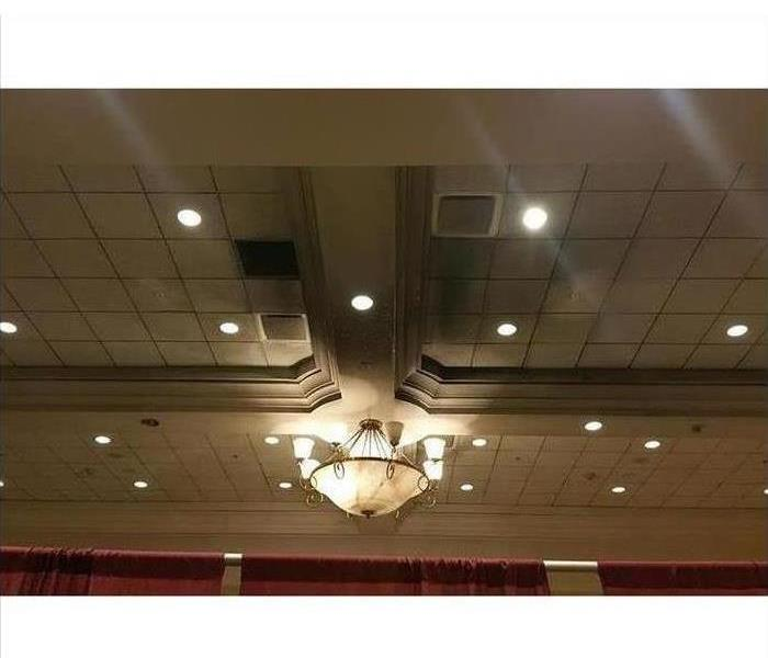 Soot Damages This Ballroom's Ceiling in St. Johns