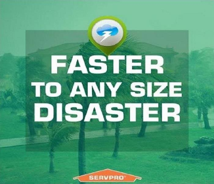 "Image shows ""Faster to Any Sized Disaster"" Clip Art"